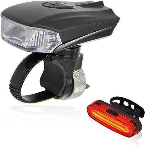 Labewin - Juego de Luces LED Recargables USB para Bicicleta, luz ...