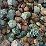 Safe & Non-Toxic {Various Sizes} 15 Pound Bag of Gravel, Rocks & Pebbles Decor for Freshwater & Saltwater Aquarium w/ Earthy Toned Smooth River Inspired Polished Natural Style [Tan, Red & Gray]