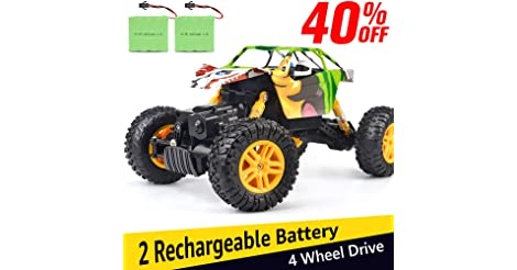 DOUBLE E 1:18 Dual Motors Rechargeable 4WD Off Road RC Truck only $29.99
