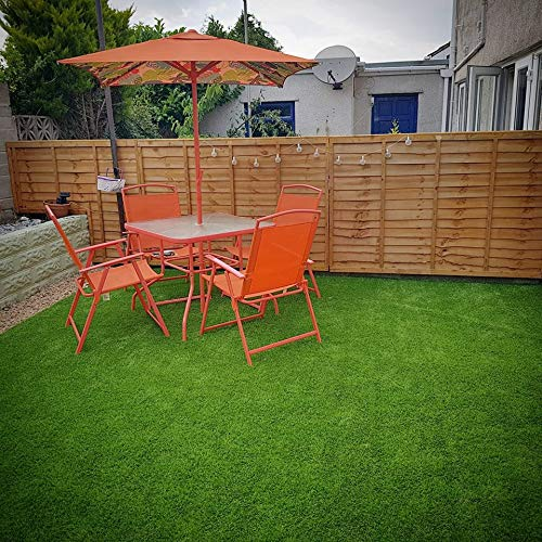 2m 4m x 4m 4m and 5m Wide Multiple Sizes Available Brisbane 30mm Realistic Artificial Grass Great Value Luxury Fake Grass Turf
