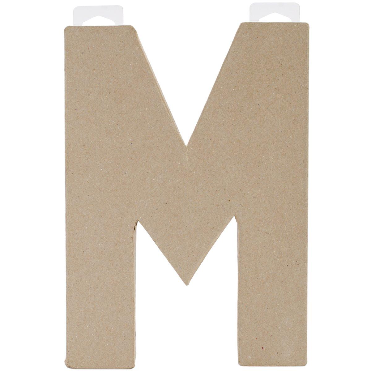 Paper Mache Letter - M - 8 x 5.5 x 1 inches Darice 2862-M