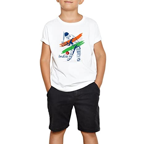 dd8f3e9886f LIMIT Fashion Store- India Cricket Sports Printed T-Shirt for Kids ...