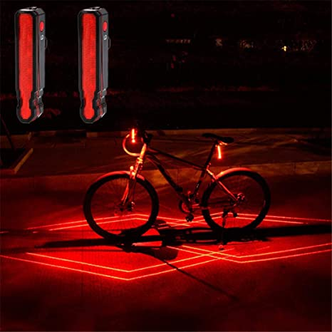 USB Rechargeable LED Cycling Bike Bicycle Headlight Taillight Night Riding Lamp