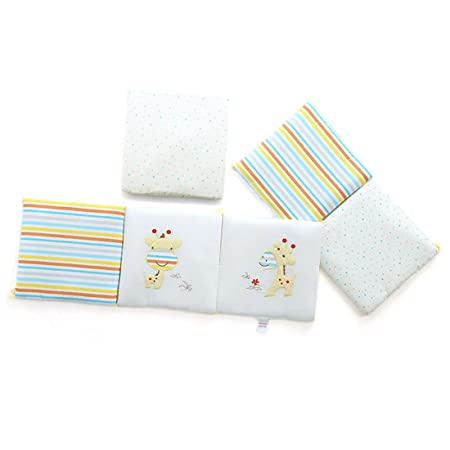 Qianle 6pcs Baby Cot Bed Bumper Breathable Nursery Bedding Set 30 Giraffe 30cm