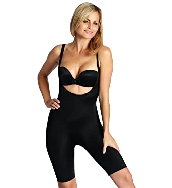 827c8900d51dd Image Unavailable. Image not available for. Color  InstantFigure Womens  Underbust Bodyshorts Slimming Shapewear ...