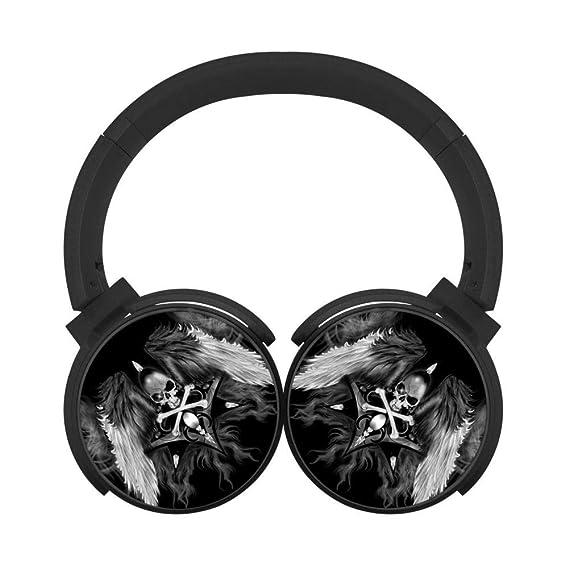 ec3dfae762c Danger Skull Demon Wings Bluetooth Headphones Wireless Hi-Fi Headset  Adjustable Noise Cancelling Earbuds Portable