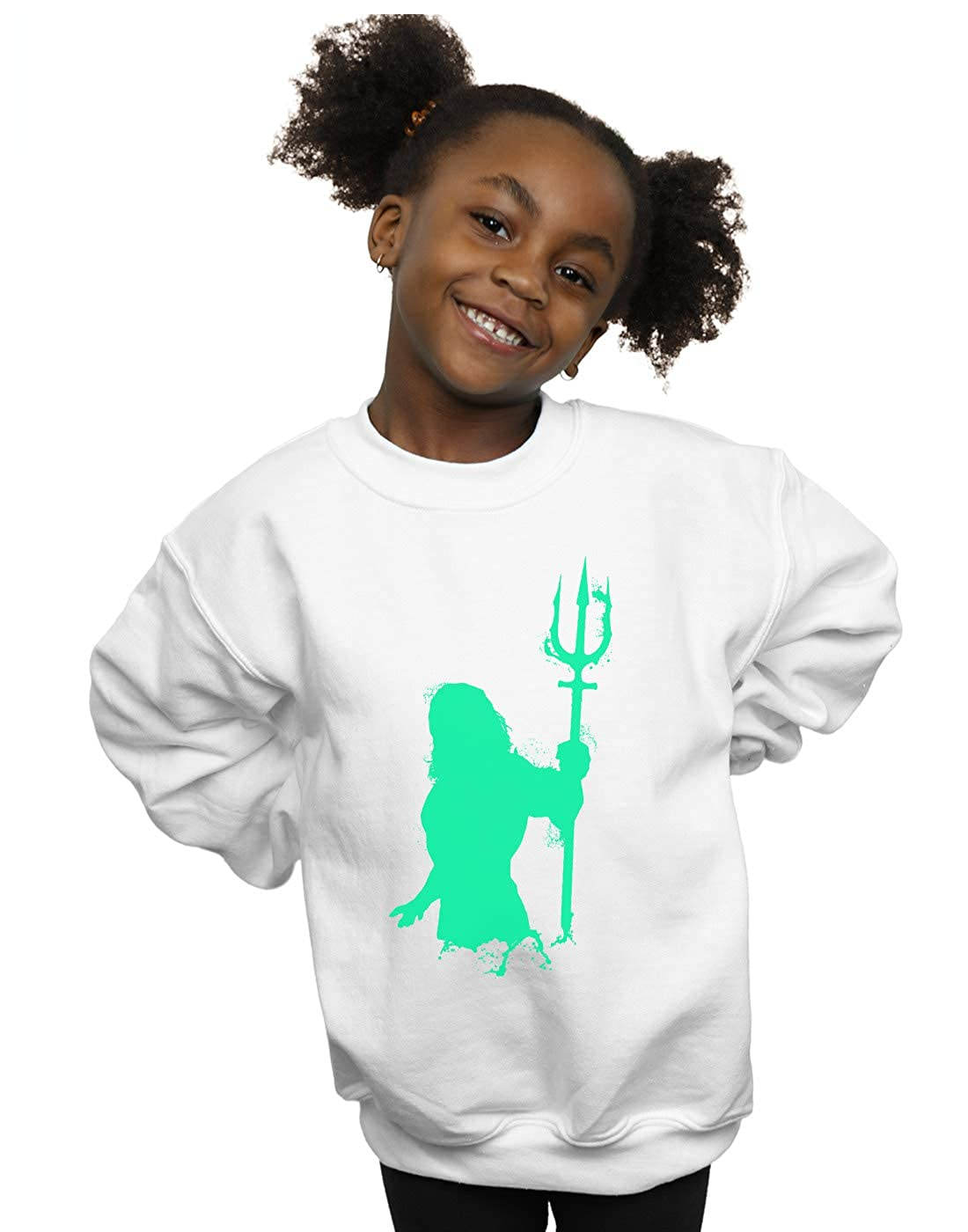 DC Comics Girls Aquaman Aqua Silhouette Sweatshirt