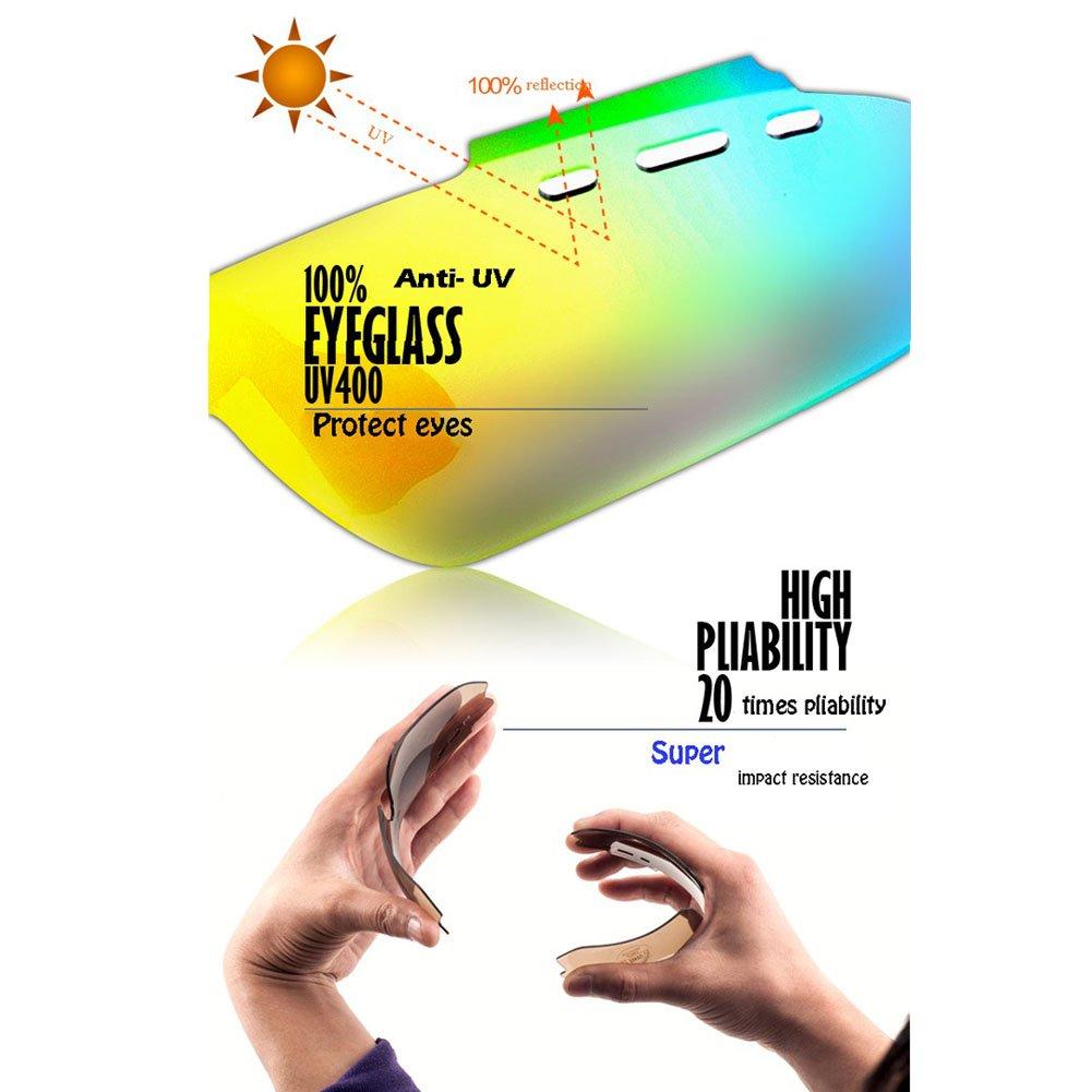 Extrbici Unisexe Sports Lunettes de soleil polarisées TR90Cadre léger incassable Myopic monture de lunettes 6interchangeables Lentilles 100% UV400protection antibuée étanche objectif Lunettes de na FVRNUk29lW