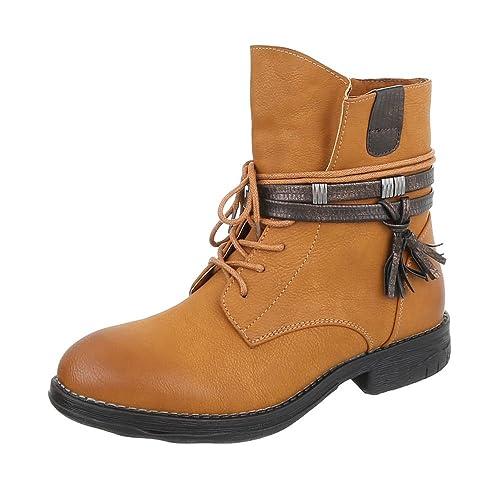 Ital-Design - Stivali western Donna , marrone (marrone), 36 EU
