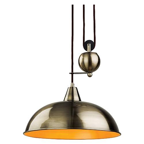 Firstlight Products Century Rise & Fall Pendant, Antique Brass, E27 (Edison Screw)