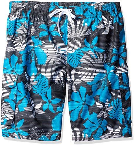 (Kanu Surf Men's Barracuda Swim Trunks (Regular & Extended Sizes), Paradise Charco, 2X )