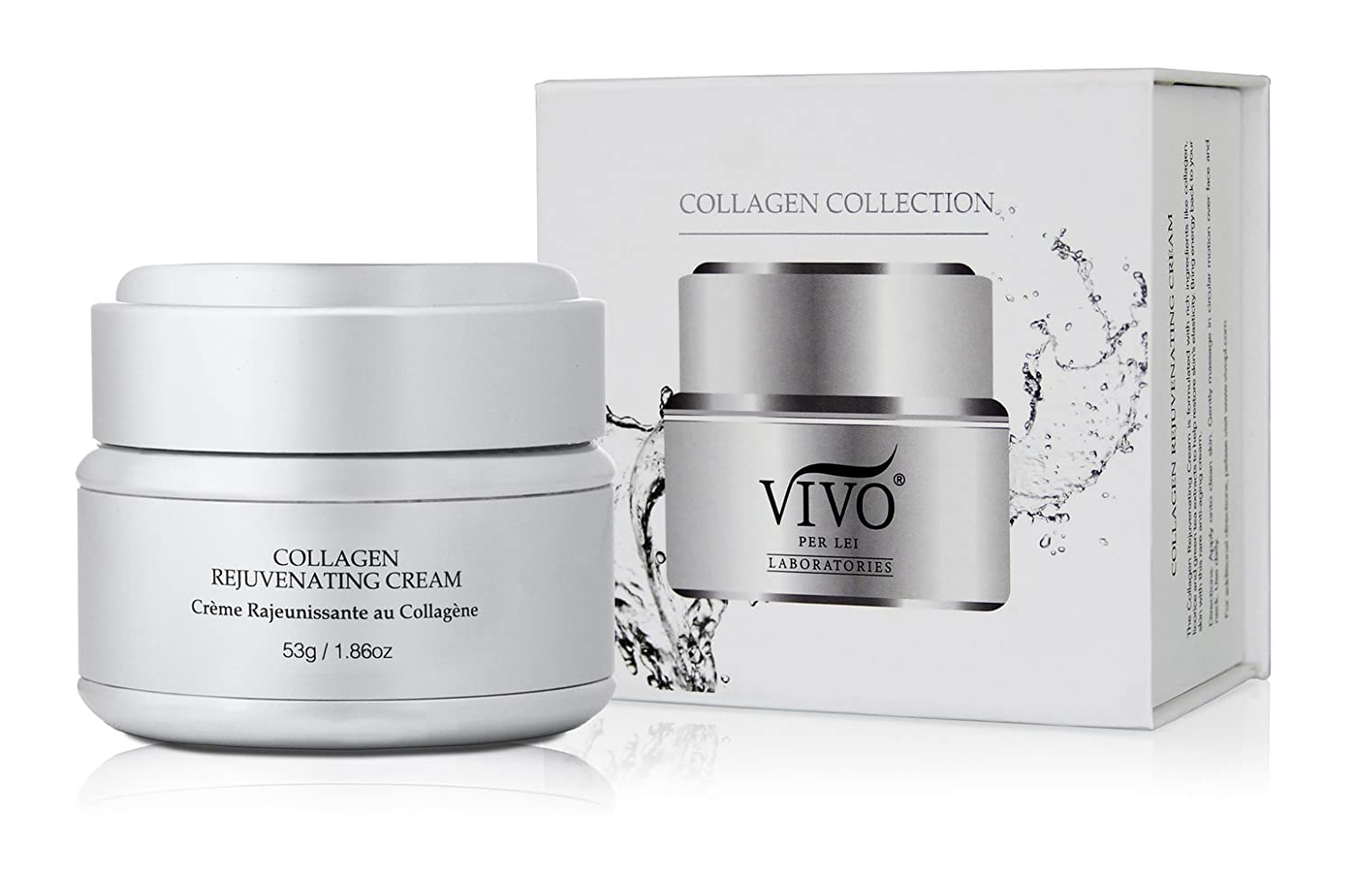 Vivo Per Lei Collagen Face Cream - Anti-Aging Vitamin Face Cream With Green Tea - Collagen Day Cream With Vitamins And Palm Oil - Deep Moisturizing Day cream For A Ravishing Skin Texture