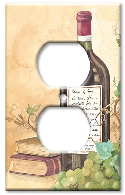 Outlet Cover Wall Plate - Wine Table - Single Switch Plates - Amazon.com