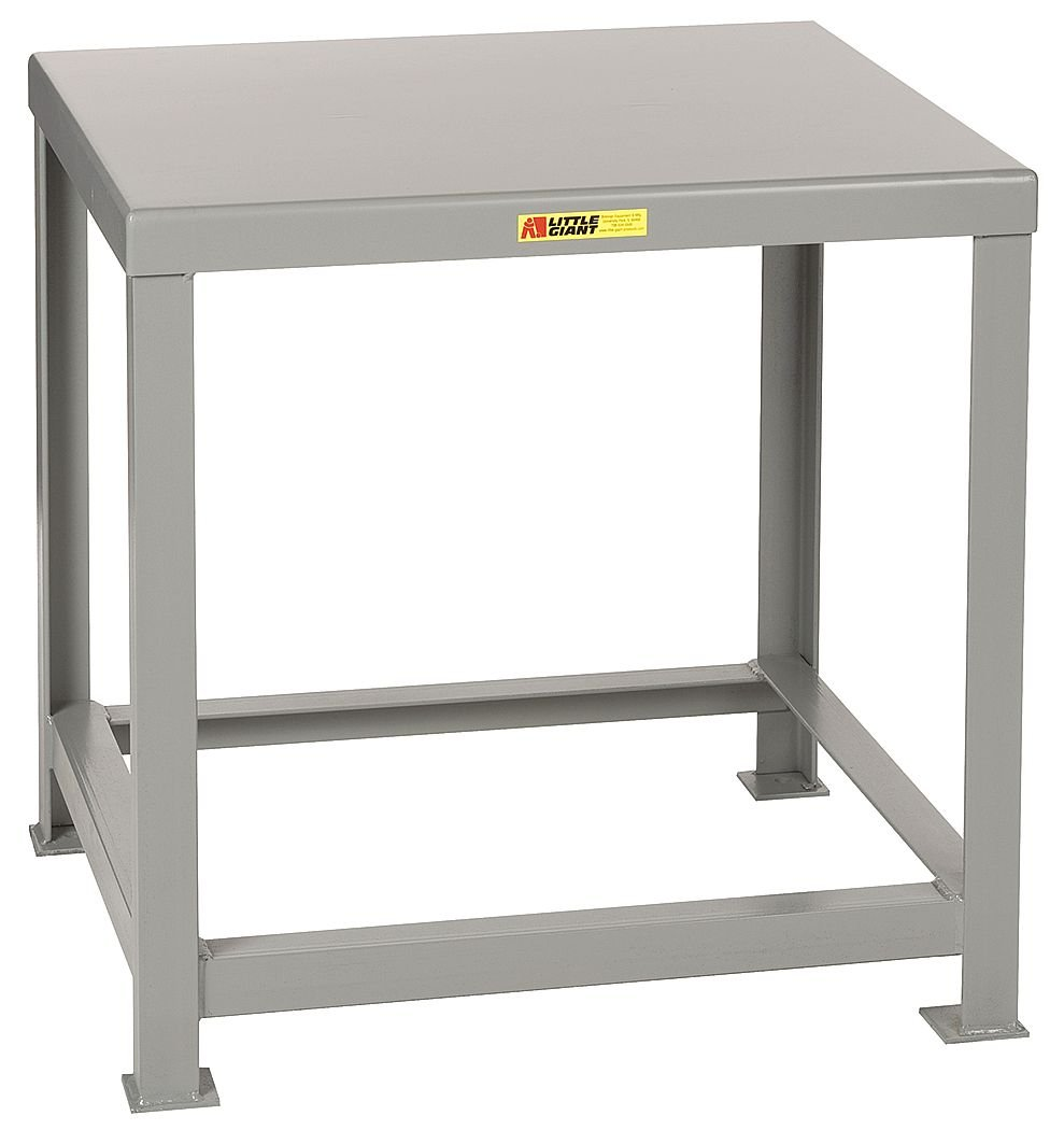 Little Giant MTH1-2830-36 Welded Steel Machine Table, 10,000 lb. Load Capacity, 28'' x 30'' x 36'', Gray