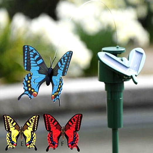 GeKLok Mariposas voladoras con energía Solar para Plantas de jardín, Flores: Amazon.es: Jardín