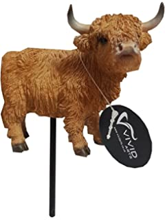 Pet Pals Highland Cattle Cow Home or Garden Decoration Vivid Arts PP-HLCA-F
