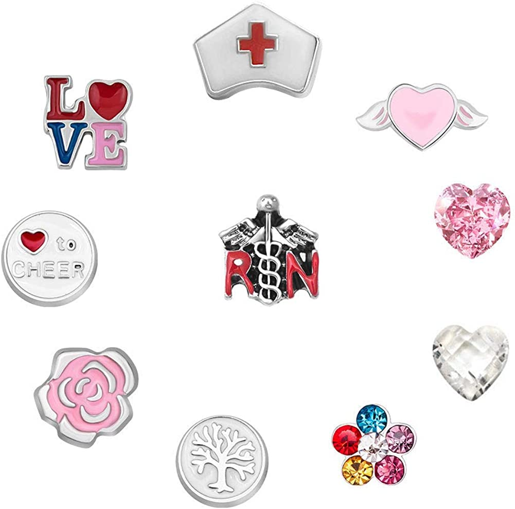 Floating Charm Love You fit Origami Living Memory Glass Locket