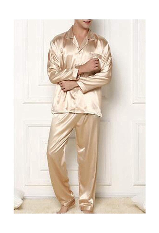 Man Greuses Satin Silk Pajamas Long Sleeve Spring Autumn Women S Set 3XL Pyjama Plus Size