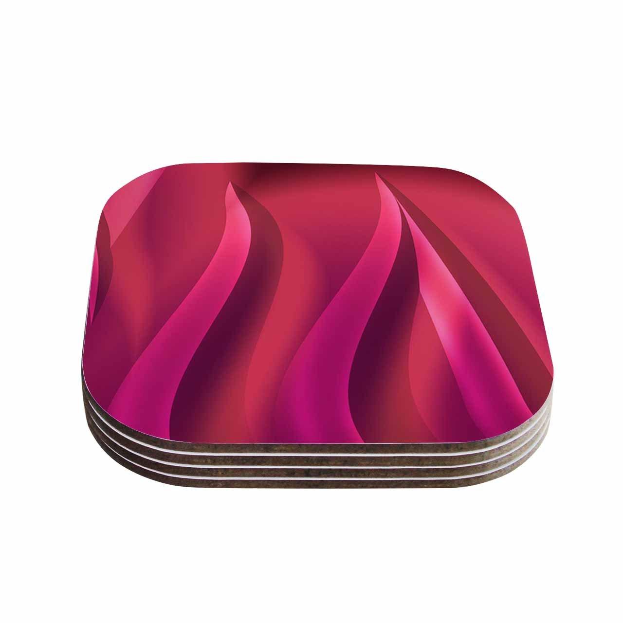 4 x 4 KESS InHouse Fotios PavlopoulosPetals in Pink Magenta Coasters Multicolor Set of 4