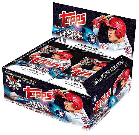1 Stamp Inserts - 2018 Topps Baseball Series 1 Factory Sealed 24 Pack Box