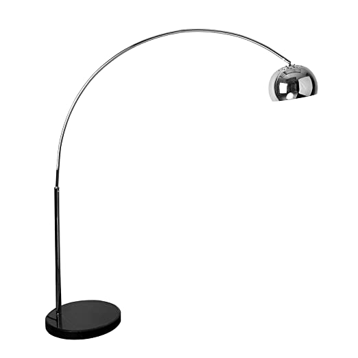 Retro arc curva style chrome black marble base floor lamp amazon retro arc curva style chrome black marble base floor lamp aloadofball Gallery