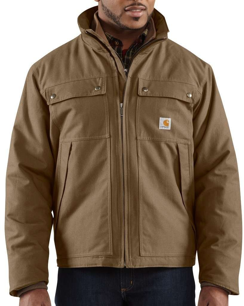 Carhartt Men's Quick Duck Woodward Rain Defender Traditional Jacket,Canyon Brown (Closeout),XX-Large