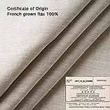 linen flat sheet DAPU Pure Stone Washed 100% French