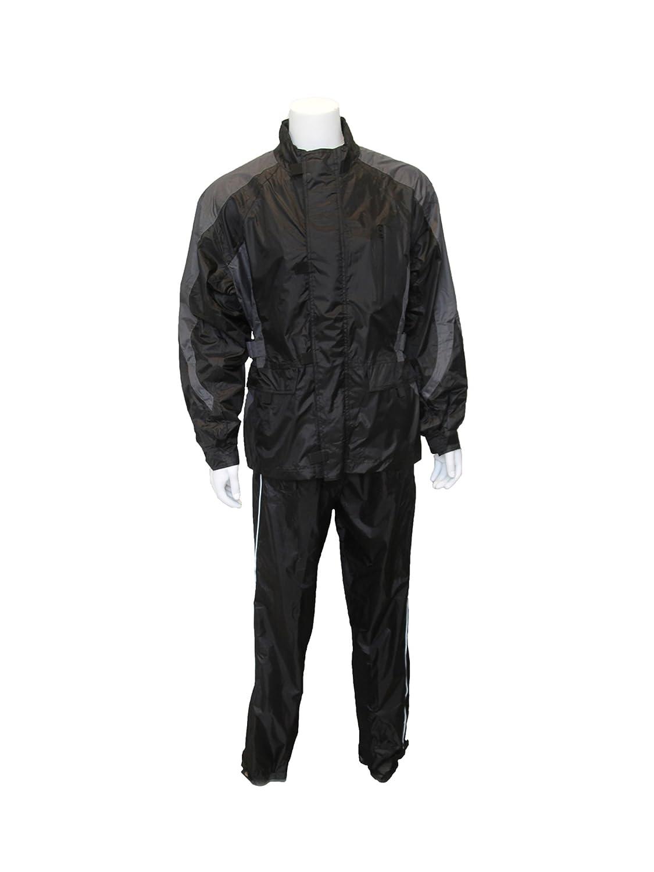 RoadDog 2 Pc Stay-Dry Motorcycle Rain Suit Waterproof Adult Silver/Black X-Large 141[並行輸入] B071YSX81Y