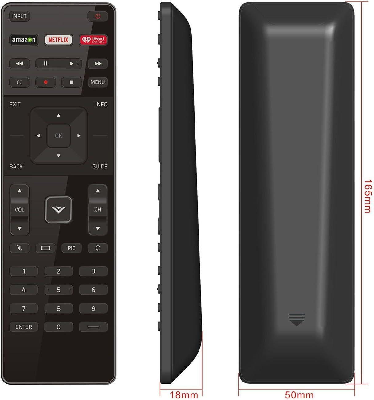 Genuine Vizio XRT112 TV Remote Control w//Amazon Netflix /& iHeart Shortcut USED