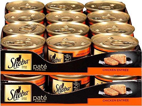 SHEBA Pate in Natural Juices Chicken Entrée Canned Cat Food 3 Ounces (Pack of 24)