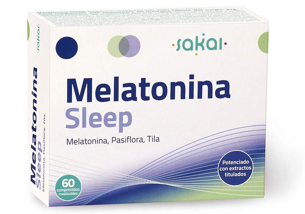Sakai - Melatonina Sleep, 60 comprimidos masticables. Conciliación ...