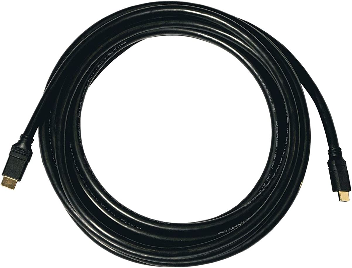 M 35ft Kramer C-HM//HM//ETH-35 HDMI Cable with Ethernet M to HDMI