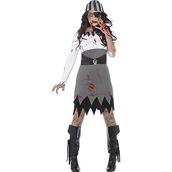 Amakando Disfraz Pirata Halloween - S (ES 36/38) | Vestido ...