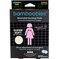 Bamboobies Washable Nursing Pads For Breastfeeding Starter Pack | Reusable Breast Pads| 2 Overnight Pairs