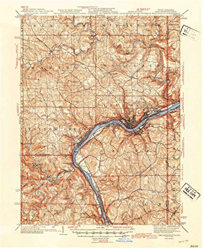 (Wellsville OH topo map, 1:62500 Scale, 15 X 15 Minute, Historical, 1944, 20.7 x 17 in - Tyvek)