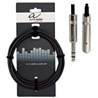 Alpha Audio 190711 3 m 6.3 mm Stereo Jack Plug (m) to Stereo Jack Plug (f) Pro Line Headphones Extension