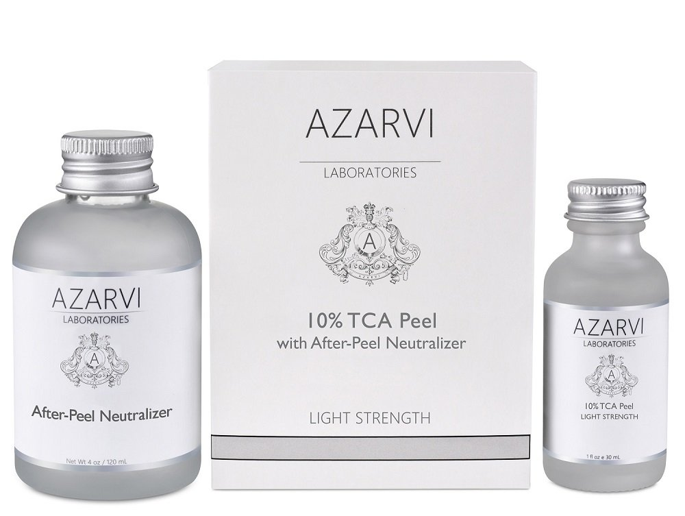 10% TCA Peel Including After Peel Neutralizer. Best for Wrinkles, Acne, Smoker's Skin. Mild-Medium Strength. Contains Retinol & Vitamin C