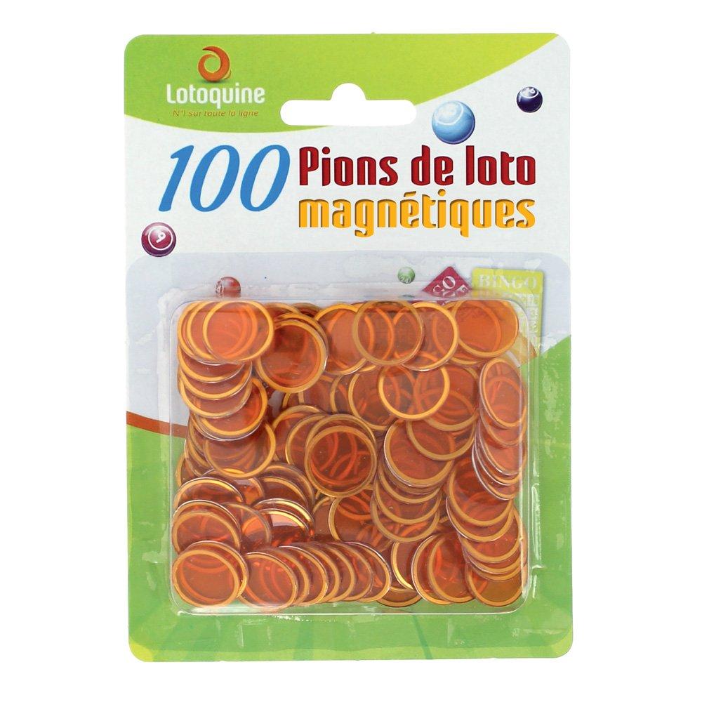 100 pions de loto magnétiques - LOTO / BINGO (orange) LOTOQUINE BSC1B0