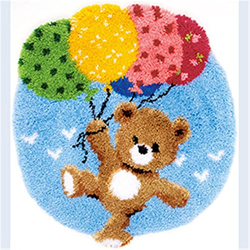 Bear Latch Hook Pillow (14 Model Bear Latch Hook Kit Rug Bear566 21 by 18 Inch (1 pack))