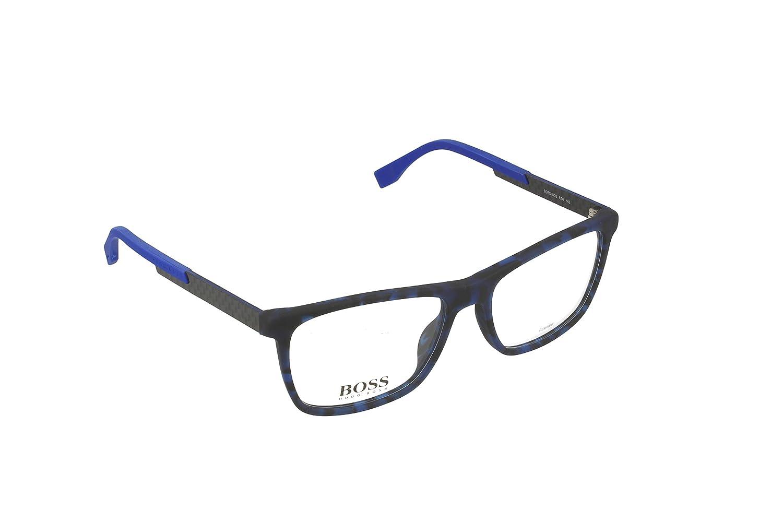 ed6316b33c26 Amazon.com: Optical frame Hugo Boss Acetate Havana Blue - Carbon (BOSS 0733  KD6): Health & Personal Care