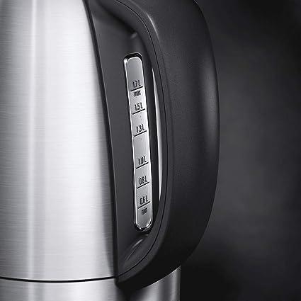 2200W 1,7L AEG EWA7700 Hervidor de agua display digital triple Sistema de seguridad