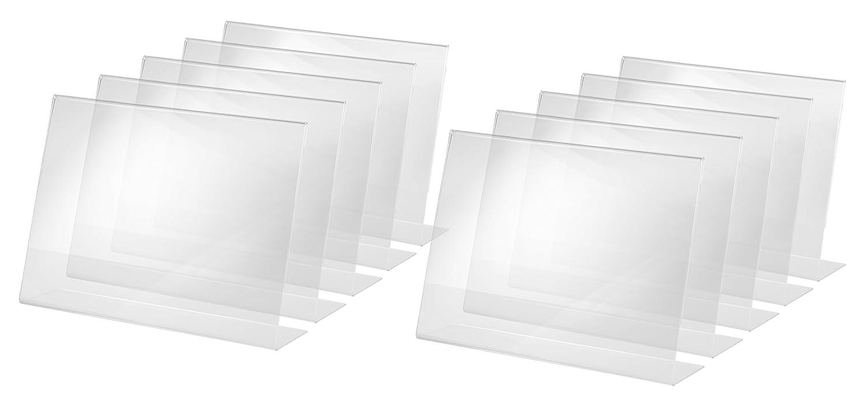 per A3 acrilico con base a L Sigel TA213 Porta-avvisi da tavolo // Porta-brochure da banco