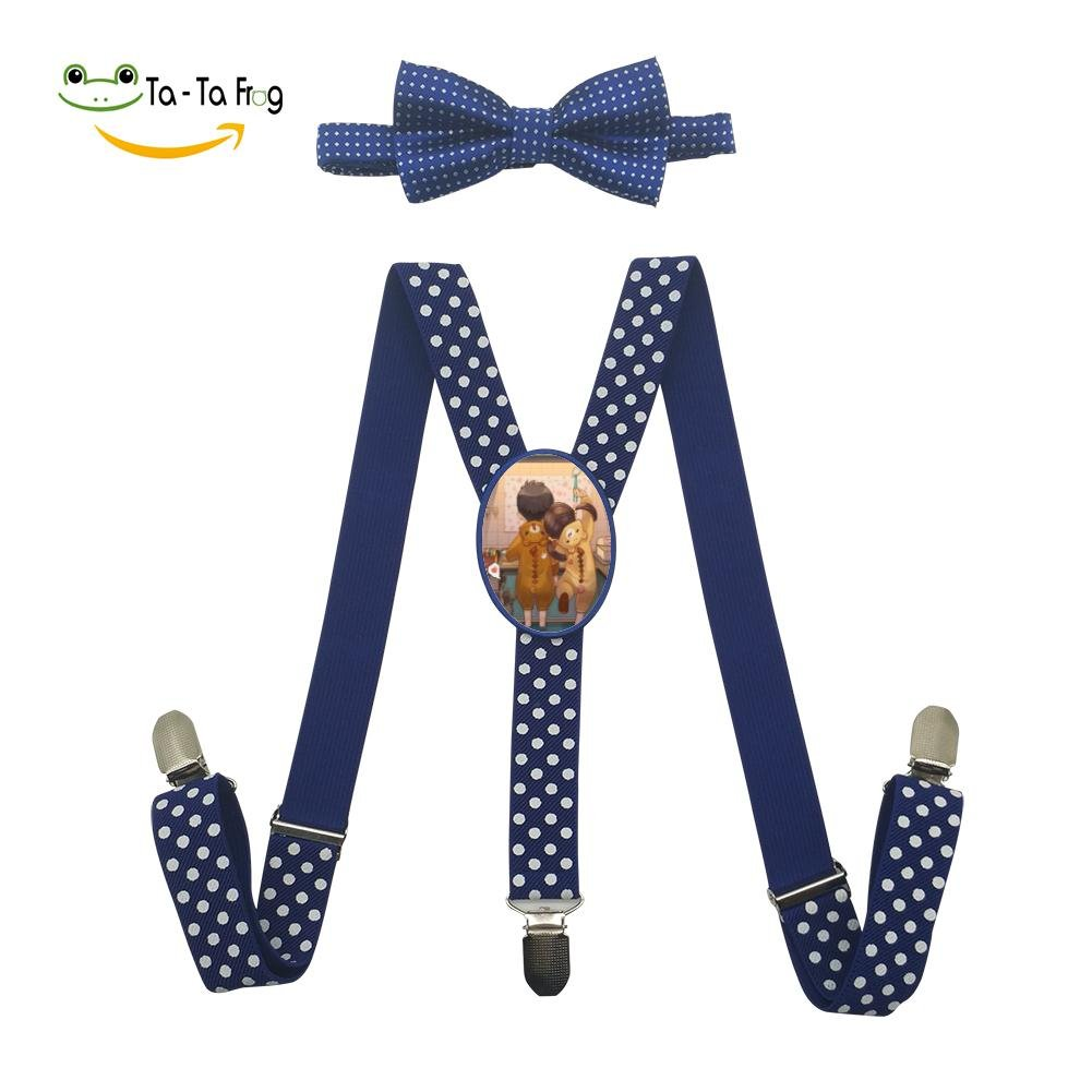 Xiacai We Are Family Suspender/&Bow Tie Set Adjustable Clip-on Y-Suspender boys