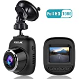 Dash Cam, JEEMAK Full HD 1080P Mini Car Camera 12MP Driving Video Recorder with Wide Angle, G-sensor, Loop Recording, Motion Detection,Anti-shake
