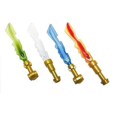 2013 LEGO Ninjago Ninja Elemental Blades - Set of 4 - LOOSE From Original Packaging - Earth, Fire, Ice & Lightning: Toys & Games