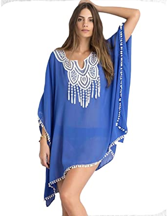 2768c38afac70 Passion-EYE Womens Swimwear Beachwear Bikini Beach Wear Cover Up Kaftan  Summer Shirt Dress (