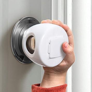 4 Pack Baby Safety Door Knob Covers DoorKnob Locks Child Children Kids Proof