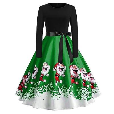 A-Linie Kleid Damen Xmas Weihnachten Weihnachtsmann Skater Schneemann Swing Kleid Weihnachtskostüm Weihnachtskleid Abendkleider Retro Übergröße Cocktailkleid Partykleider Kleider