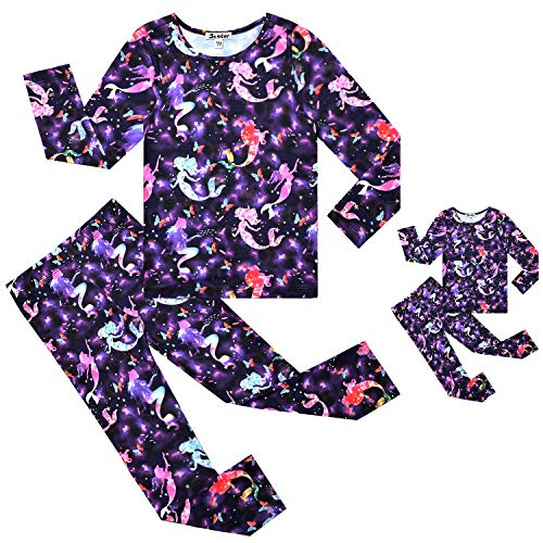 Jxstar Girls/&Doll Matching Dresses Long Sleeve Fall Winter Outfits 18 inch Doll American Clothes