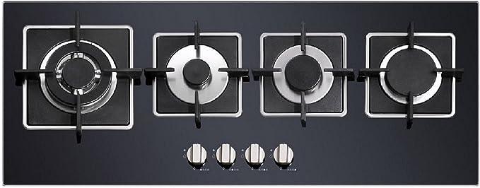 Moderno Super Slim Design Piano Cottura A Gas Su Vetro Di Neri Spesso 4 Sabaf Original Bruciatore Per Tre Cerchio Wok Autark Amazon It Grandi Elettrodomestici